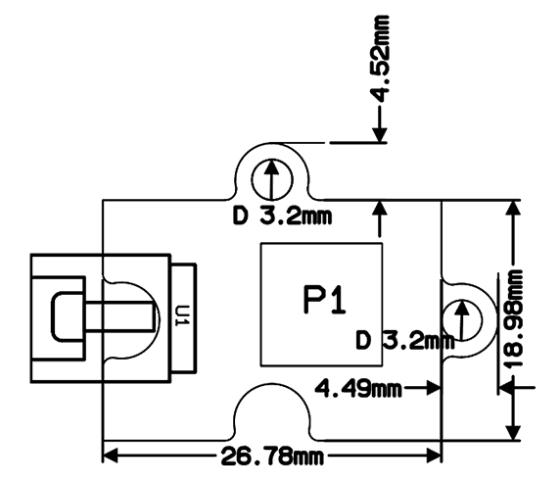 Octopus modul potenciometr - rozměry