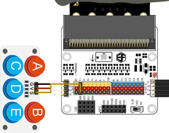Octopus modul s tlačítky zapojení