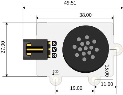 Octopus MP3 Player modul rozměry