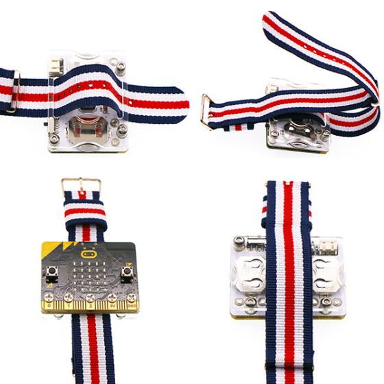 Power:bit kit pro micro:bit hodinky - připevnění pásku