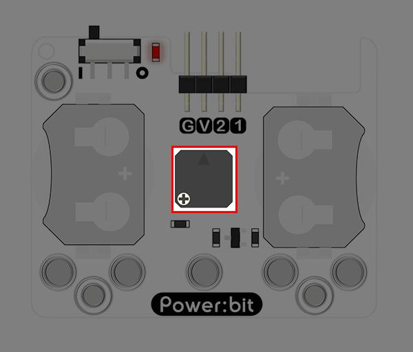 "Power:bit pro micro:bit - ""nositelný"" napájecí modul - buzzer"
