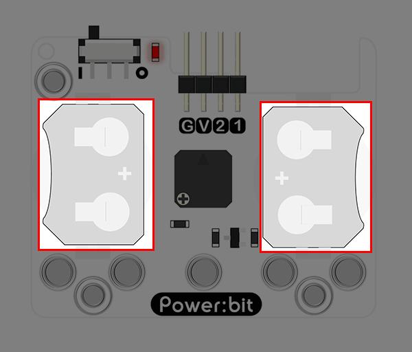 """Power:bit pro micro:bit - """"nositelný"""" napájecí modul - držák baterií"""