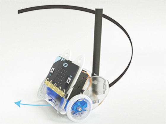 Ring:bit V2 - Micro:bit výukový robot pro děti - příklad kreslítko