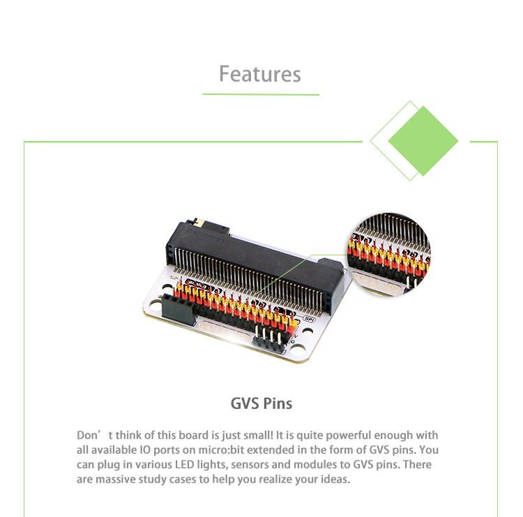 Senzor:bit pro micro:bit - univerzální rozšiřující modul - GVS piny