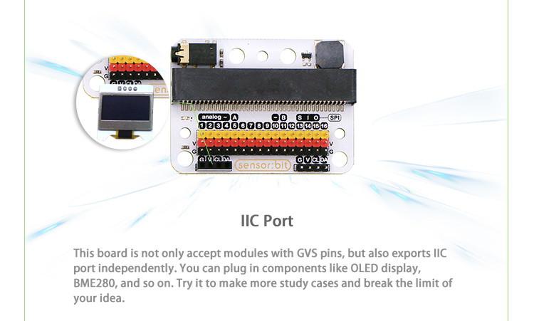 Senzor:bit pro micro:bit - univerzální rozšiřující modul - I2C sběrnice