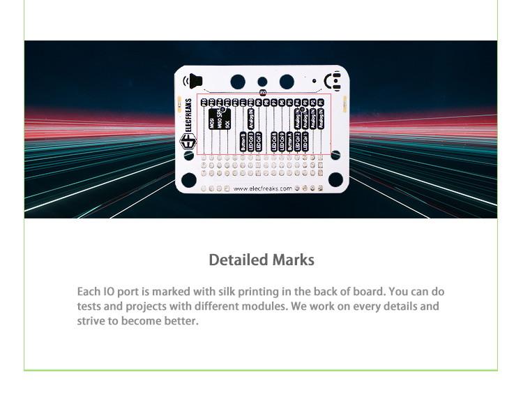 Senzor:bit pro micro:bit - univerzální rozšiřující modul - popisy