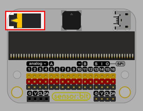 Senzor:bit pro micro:bit - univerzální rozšiřující modul - audio jack