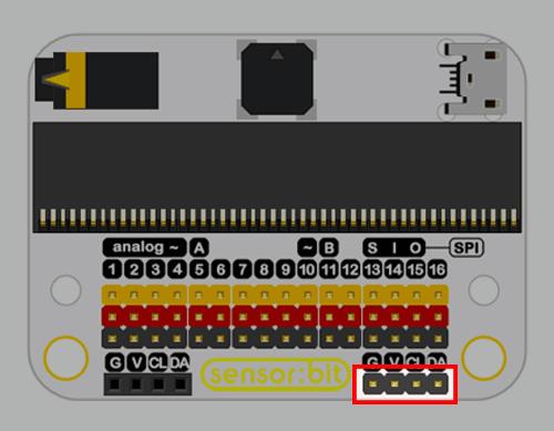Senzor:bit pro micro:bit - univerzální rozšiřující modul - I2C