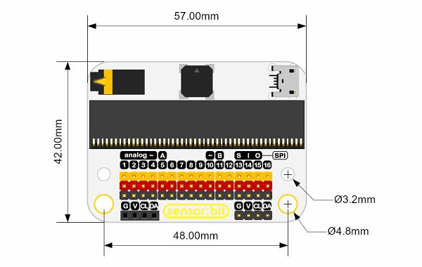 senzor-bit-pro-microbit-univerzalni-rozsirujici-modul-rozmery