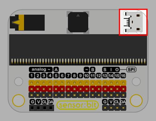 Senzor:bit pro micro:bit - univerzální rozšiřující modul - USB napájení