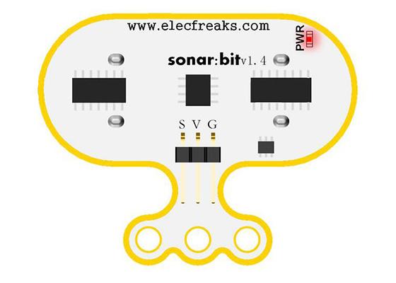 Sonar:bit pro micro:bit - ultrazvukový měřič vzdálenosti 3V/5V uživatelské rozhraní