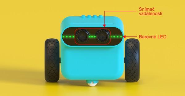 TPBot - programovatelný jezdící robůtek pro děti (bez micro:bit) snímač a RGB LED