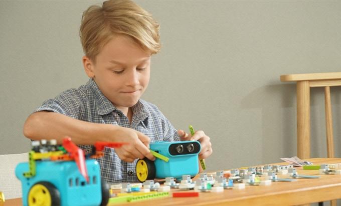 TPBot - programovatelný jezdící robůtek pro děti (bez micro:bit) zábava i učení