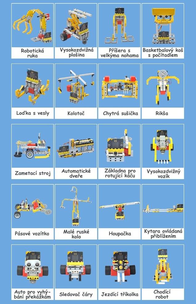 Wonder Building Kit - stavebnice robotů s Wukong 20v1 pro LEGO® (bez micro:bit) projekty