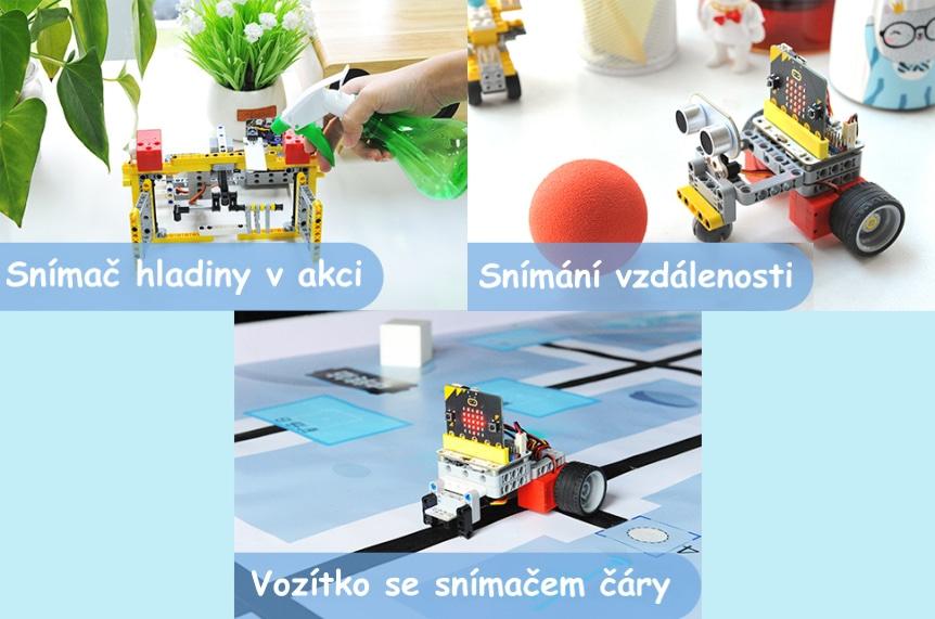 Wonder Building Kit - stavebnice robotů s Wukong 20v1 pro LEGO® (bez micro:bit) snímače