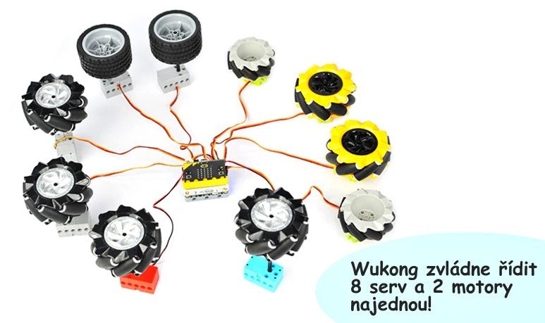 Wukong pro microbit serva a motory