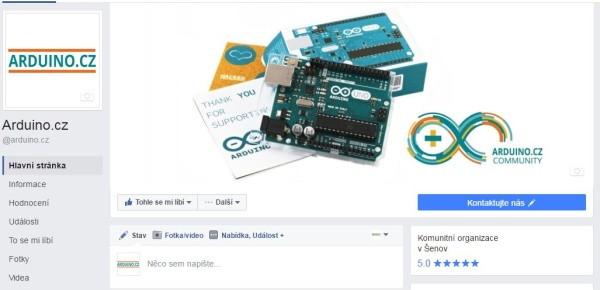 Arduino.cz Facebook profil