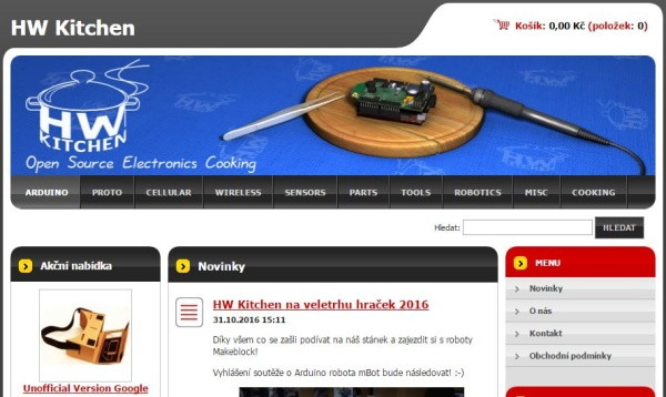 E-shop www.hwkitchen.com