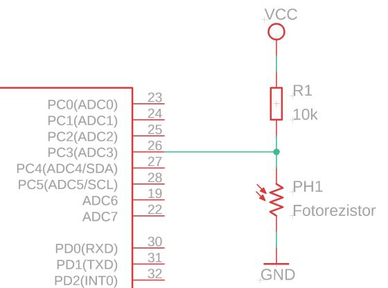 Fotorezistor GL5516 (světelné čidlo) zapojení