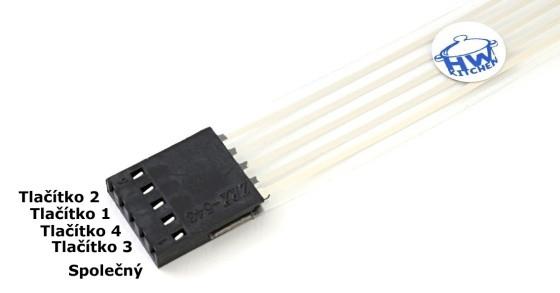 Klávesnice 1 x 4 membránová zapojení