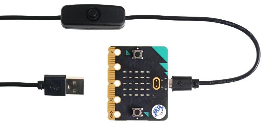 Micro USB napájecí kabel s vypínačem 1m