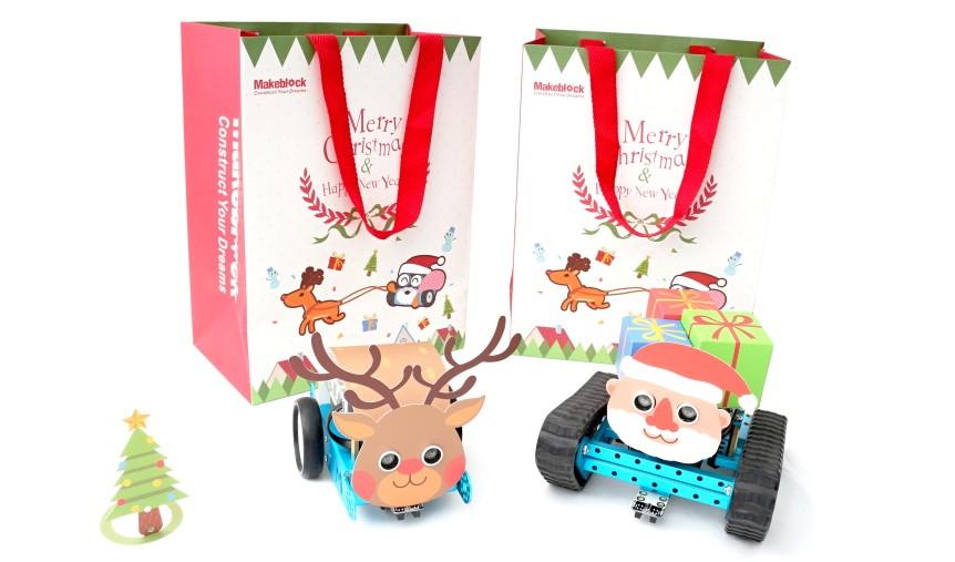 Vánoční dekorace na roboty mBot a mBot Ranger
