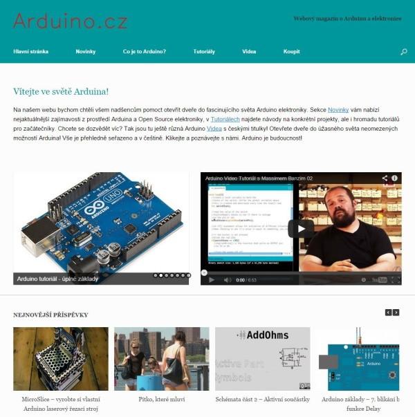 Webový magazín Arduino.cz