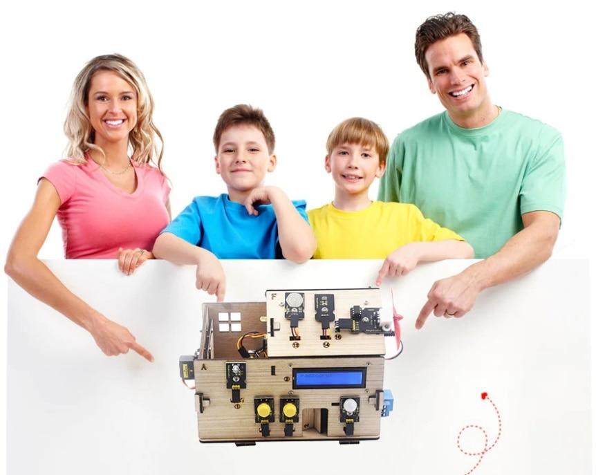 Chytrý domeček pro Arduino - STEAM DIY výukový kit - STEAM výuka