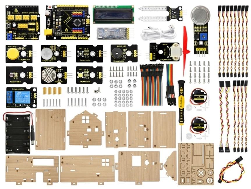 Chytrý domeček pro Arduino - STEAM DIY výukový kit - součásti 1