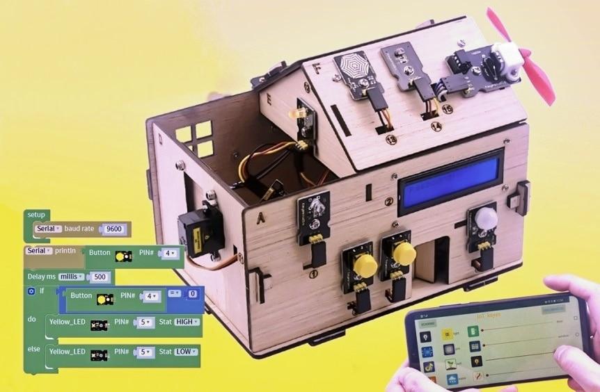 Chytrý domeček pro Arduino - STEAM DIY výukový kit