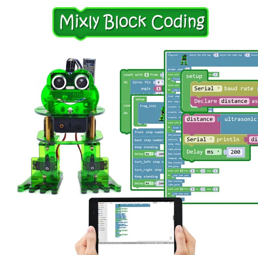 Keyestudio DIY robotický chodící žabák kompatibilní s Otto DIY grafické programování