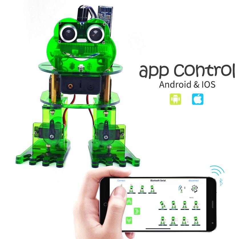 Keyestudio DIY robotický chodící žabák kompatibilní s Otto DIY mobilní aplikace