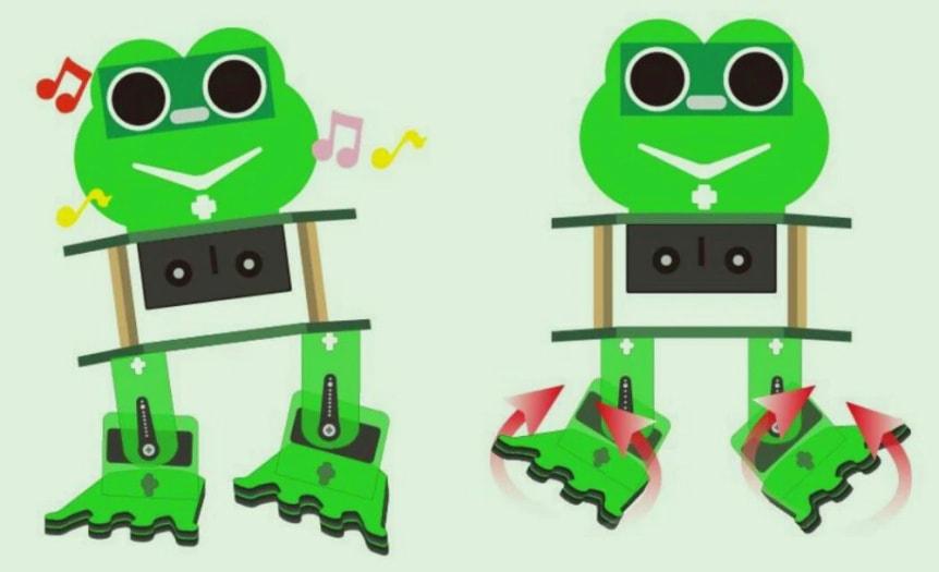 Keyestudio DIY robotický chodící žabák kompatibilní s Otto DIY pohyby