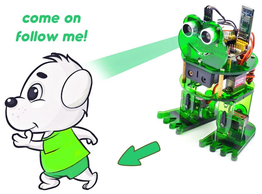 Keyestudio DIY robotický chodící žabák kompatibilní s Otto DIY snímač vzdálenosti