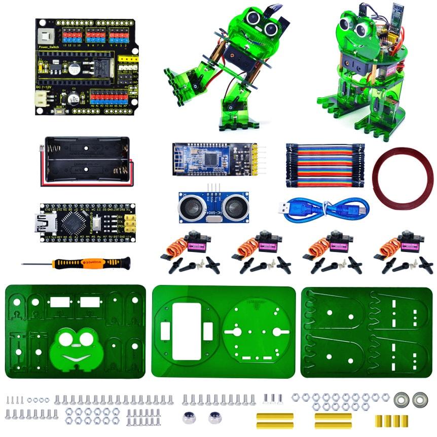 Keyestudio DIY robotický chodící žabák kompatibilní s Otto DIY součásti