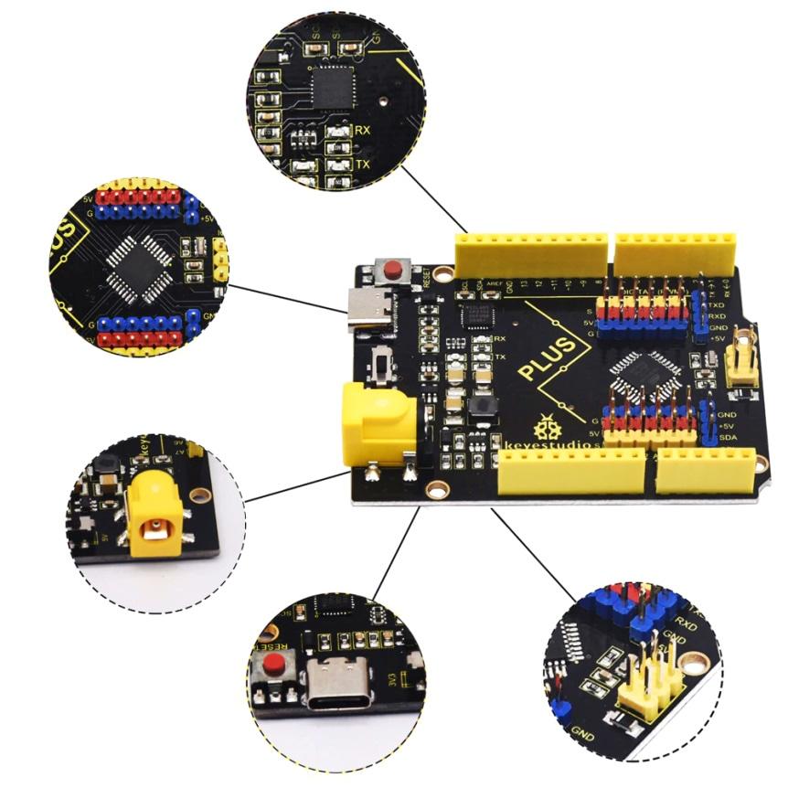 Keyestudio PLUS USB-C kompatibilní s Arduino UNO R3 vlastnosti