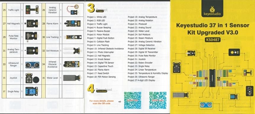 Keyestudio Senzor Kit 37v1 V3.0 pro Arduino leták 1