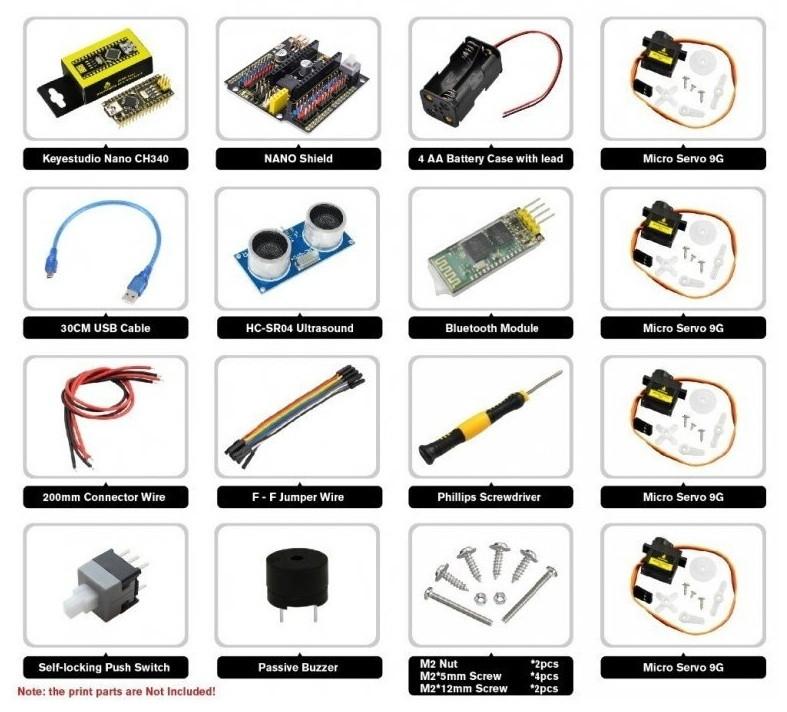 Starter Kit pro robota Otto DIY - součástky