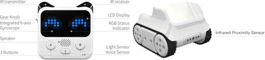 Codey Rocky - programovatelný výukový robot pro děti - uživatelské rozhraní
