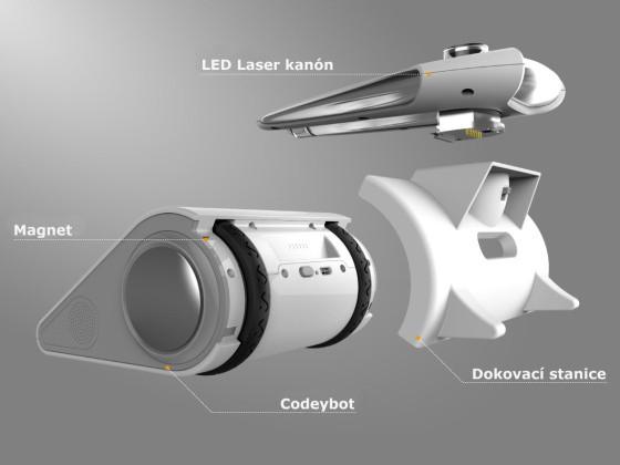 Codeybot LED Laser kanón instalace