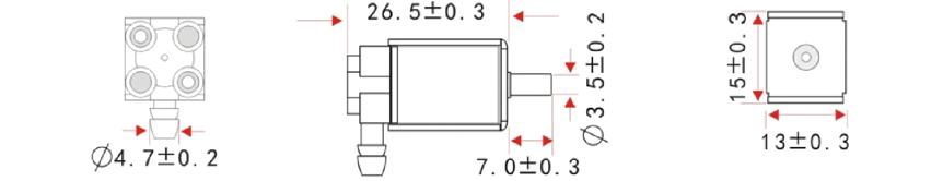 Elektromagnetický ventil 12VDC rozměry