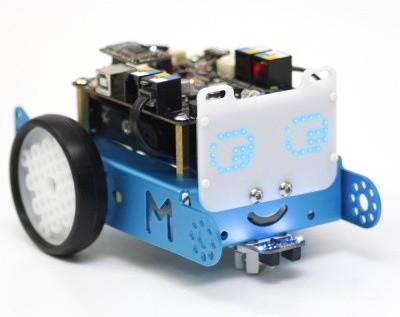 LED matice 8x16 pro robota mBot nasazená