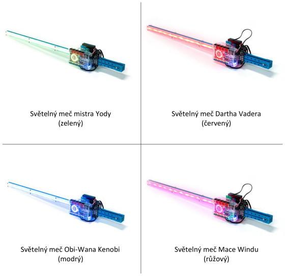 mBot Ranger Add-on Pack - světelný meč - příklady