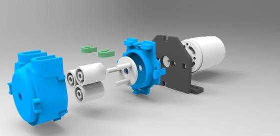 Mikro peristaltické čerpadlo 12VDC - součásti