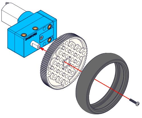 Motor 180PRM s optickým enkodérem instalace