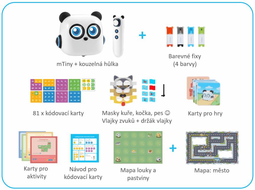 mTiny Discover Kit - výukový robůtek pro děti - součásti