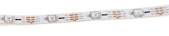 RGB LED pásek - adresovatelný, utěsněný