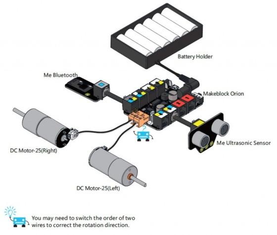 Starter Robot Kit - Bluetooth - propojování součástí