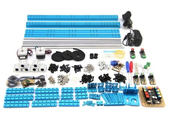 XY Plotter Robot Kit s elektronikou součásti