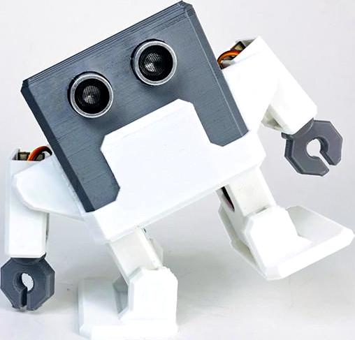 otto diy builder kit humanoid telo z 3d tisku soucasti tancujici otto
